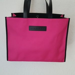 Burberry hot pink East West tote canvas bag
